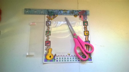 Repurposed Magnetic Picture Frame - supplies