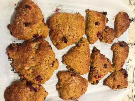 Pumpkin Cranberry Scones baked