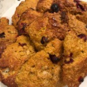 Pumpkin Cranberry Scones on plate