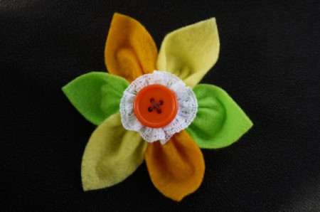 Felt Flower Brooch - allow glue to completely dry before wearing