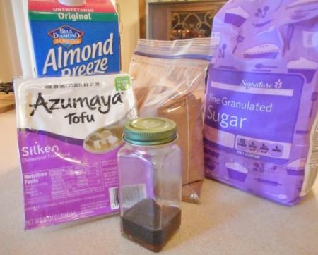 Vegan Chocolate Pudding ingredients