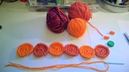 Cute Little Crochet Circle Pumpkin - circles complete