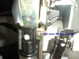 White Sewing Machine Presser Foot Lever Is Loose