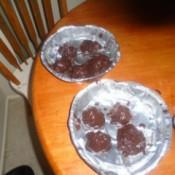 Cake Balls on aluminum pans