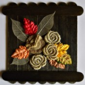 Colors of Fall Mini Canvas -  add other embellishments