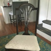 Identifying Antique Dining Chairs - dark stain dining chair with decorative back
