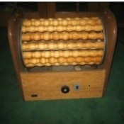 Vintage Wooden Dowel Electric Roller Machine