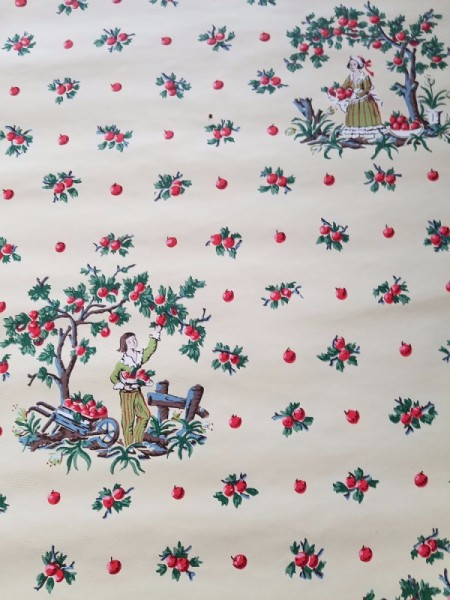 Imperial Wallpaper Ripe Fruit Pattern