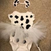 Baby Girl Puppy Halloween Costume - Dalmatian dog costume.