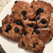 Blueberry Scones on plate