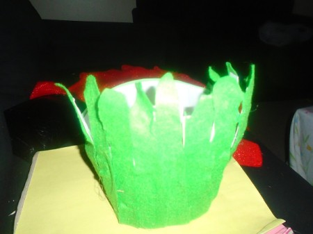 Strawberry Halloween Costume - finished hat