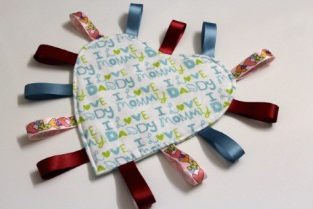 Baby Tag Blankets - heart shape