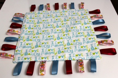 Baby Tag Blankets - blue