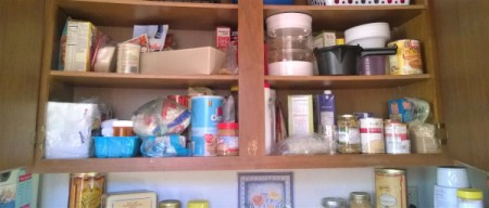 Plastic Food Containers to the Rescue! - before