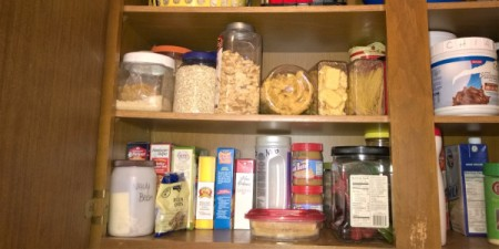 Plastic Food Containers to the Rescue! - reorganized using containers