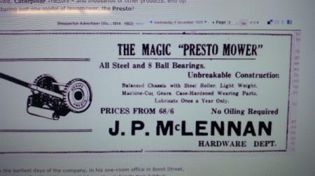 Value of Adam's Presto Vintage Push Mower