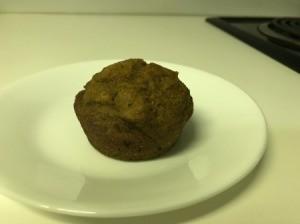 Pumpkin Muffin o n plate