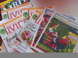 A collection of seasonally themed magazines.