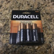 A package of AA batteries.