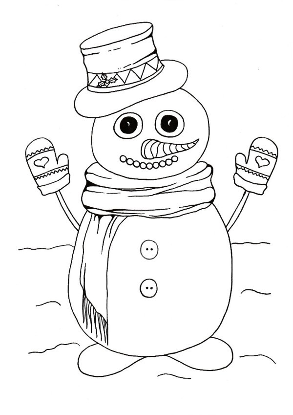 Do You Wanna Build A Snowman Kidsu0027 Coloring Page   Cute Snowman Coloring  Page
