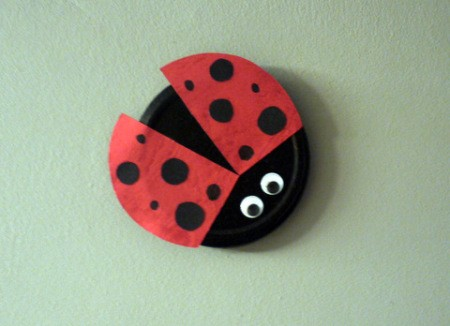 Recycled Metal Lid Ladybird (Ladybug) Wall Decoration - ready to hang