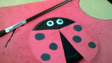 Recycled Metal Lid Ladybird (Ladybug) Wall Decoration - add wings and eyes to wet paint