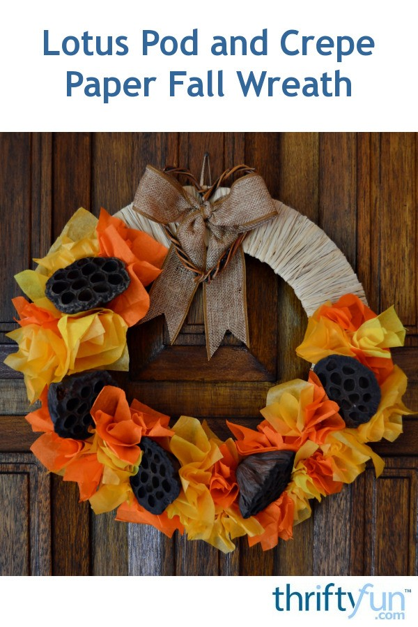 Lotus Pod And Crepe Paper Fall Wreath Thriftyfun