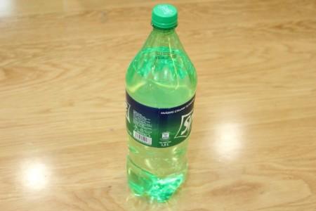 Halloween Frankenstein Soda Bottle Craft - Sprite bottle with label