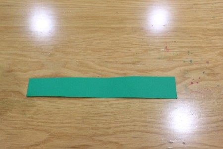 """Halloween Frankenstein Soda Bottle Craft - 2"""" rectangle of green paper 1"""" longer than bottle circumfrence"""