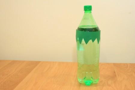 Halloween Frankenstein Soda Bottle Craft - hair