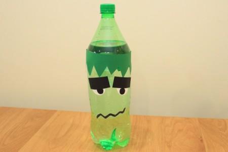 Halloween Frankenstein Soda Bottle Craft