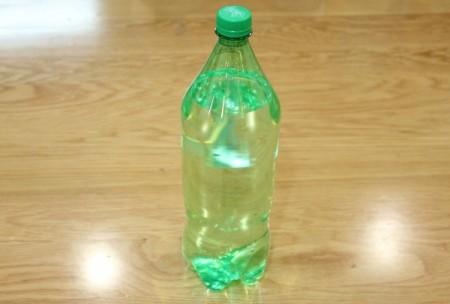 Halloween Frankenstein Soda Bottle Craft - label removed