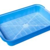 Blue Kitty Litter Tub