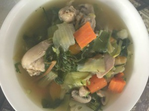 Chicken Vegetable Soup in a bowl