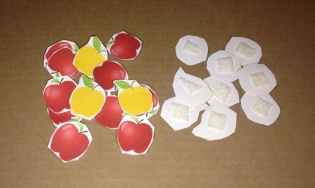 Printed Velcro Apple Trees - print, cut out, laminate, and add soft Velcro to apples