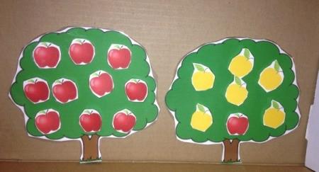 Printed Velcro Apple Trees - apple trees