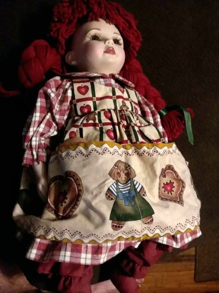 Identifying a Porcelain Doll - doll with red yarn hair