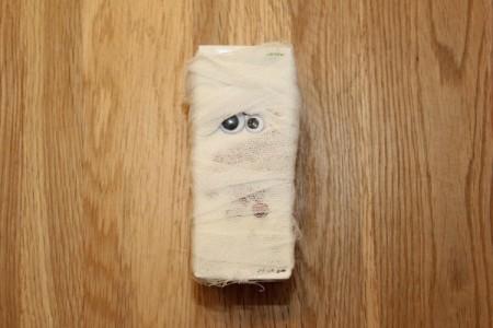 Halloween Mummy Juice Box - mummy juice box