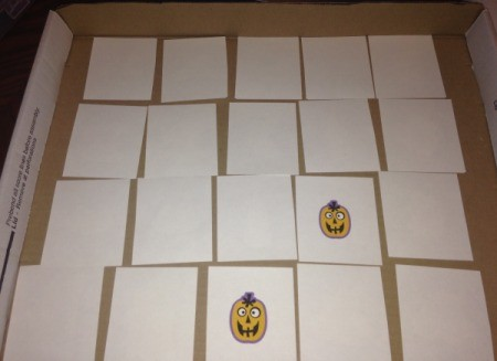 Halloween Memory and Number  Matching Cards - playing memory game