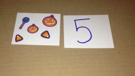 Halloween Memory and Number Matching Cards - cards for number game