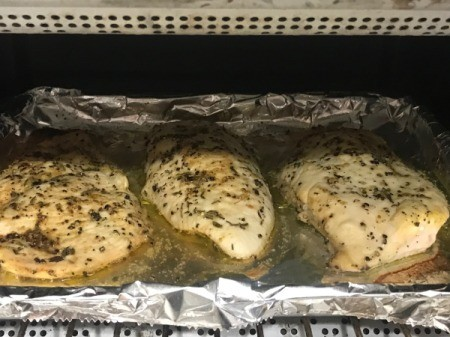Seasoned Baked Chicken Breasts in oven
