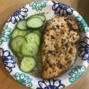Seasoned Baked Chicken Breasts on plate