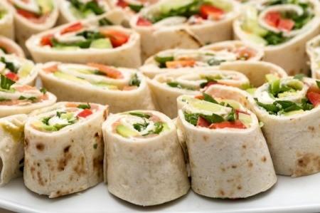 Tortilla wrap party platter.