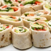 Tortilla wrap party platter.