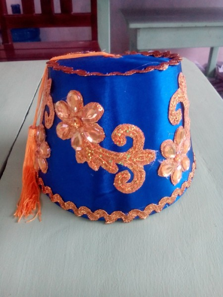 DIY Turkish Fez - fully decorated fez