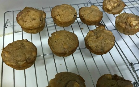 Apple Muffins cooling on rack