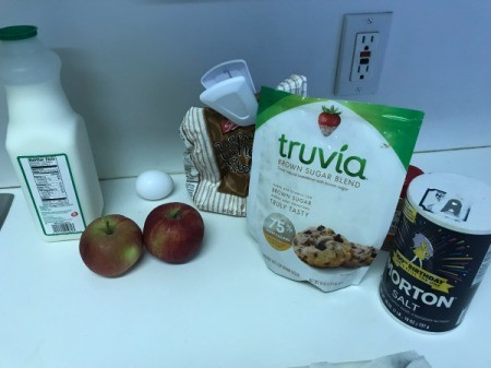 Apple Muffins ingredients