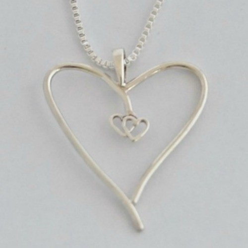 Handmade Jewelry And Engraving Business Name Ideas Silver Heart Pendant