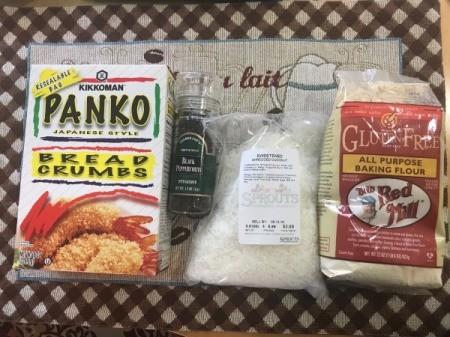 Baked Coconut Shrimp ingredients