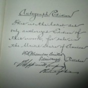 Value of 1912 Chamber's - Encyclopedias - signatures
